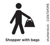 shopper with bags icon vector... | Shutterstock .eps vector #1106769398