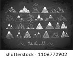 doodle sketch mountains on... | Shutterstock .eps vector #1106772902