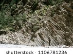 the high beautiful steep rocky... | Shutterstock . vector #1106781236