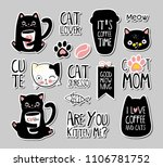 set of cats badges  patches ... | Shutterstock .eps vector #1106781752