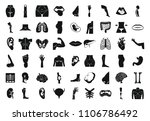 human body icon set. simple set ... | Shutterstock . vector #1106786492