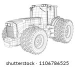 vector wheeled tractor isolated ... | Shutterstock .eps vector #1106786525