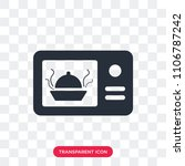 microwave vector icon isolated... | Shutterstock .eps vector #1106787242