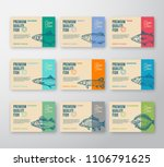 premium quality fish labels... | Shutterstock .eps vector #1106791625