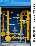 gas pipeline in the boiler room | Shutterstock . vector #1106798168