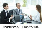 manager discussing work issues...   Shutterstock . vector #1106799488