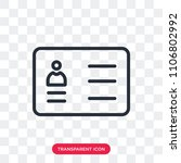 curriculum vector icon isolated ... | Shutterstock .eps vector #1106802992