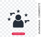 policeman vector icon isolated... | Shutterstock .eps vector #1106803172