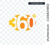 360 degree vector icon isolated ... | Shutterstock .eps vector #1106824802