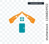 realestate vector icon isolated ... | Shutterstock .eps vector #1106824922