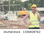 civil engineer wearing safety... | Shutterstock . vector #1106828762