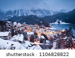 dusk winter view of the... | Shutterstock . vector #1106828822