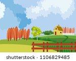 countryside vector landscape ... | Shutterstock .eps vector #1106829485