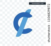 cent vector icon isolated on... | Shutterstock .eps vector #1106829872