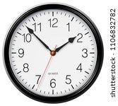 classic black round wall clock... | Shutterstock . vector #1106832782