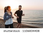 happy young couple jogging...   Shutterstock . vector #1106834408