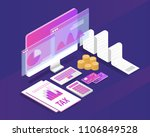tax receipt and document... | Shutterstock .eps vector #1106849528