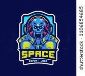 dead astronaut in spacesuit.... | Shutterstock .eps vector #1106854685