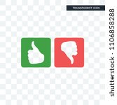 good bad vector icon isolated... | Shutterstock .eps vector #1106858288