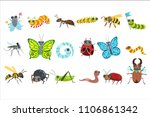 insect cartoon images set | Shutterstock .eps vector #1106861342