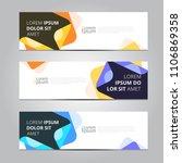 vector abstract design banner... | Shutterstock .eps vector #1106869358