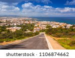 architecture of chania city on... | Shutterstock . vector #1106874662