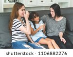vacation of happy family... | Shutterstock . vector #1106882276