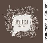 breakfast speech bubble. hand... | Shutterstock .eps vector #1106883185