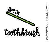 vector illustration of tooth... | Shutterstock .eps vector #1106886998