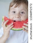 a small cute boy 4 years old is ... | Shutterstock . vector #1106892572