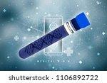3d render of dna structure ... | Shutterstock . vector #1106892722