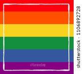 lgbt flag. rainbow love. vector ... | Shutterstock .eps vector #1106892728