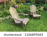 relaxing wooden chairs in the...   Shutterstock . vector #1106895065