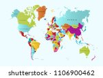 color world map vector | Shutterstock .eps vector #1106900462
