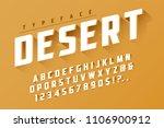 desert retro display font... | Shutterstock .eps vector #1106900912