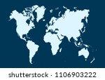 world map vector   Shutterstock .eps vector #1106903222