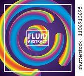 fluid abstract background | Shutterstock .eps vector #1106913695