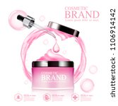 ads brand cosmetic mockup... | Shutterstock .eps vector #1106914142