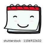 smile calendar   cartoon vector ... | Shutterstock .eps vector #1106922632