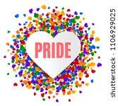 lgbt pride greeting card  gay... | Shutterstock .eps vector #1106929025