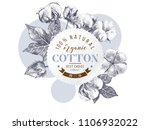 organic cotton round paper... | Shutterstock .eps vector #1106932022