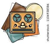 reel to reel tape recorder...   Shutterstock .eps vector #1106938586