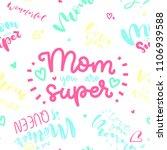 happy mother's day postcard....   Shutterstock .eps vector #1106939588