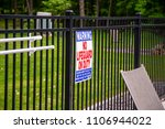 no lifeguard on duty warning...   Shutterstock . vector #1106944022