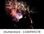 happy bride and groom watching...   Shutterstock . vector #1106944178