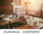 producer's or video editor's... | Shutterstock . vector #1106946905