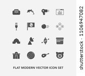 modern  simple vector icon set... | Shutterstock .eps vector #1106947082