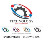 technology logo symbol template ... | Shutterstock .eps vector #1106948426