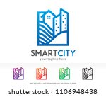 smart city logo symbol template ... | Shutterstock .eps vector #1106948438