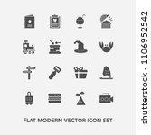 modern  simple vector icon set... | Shutterstock .eps vector #1106952542